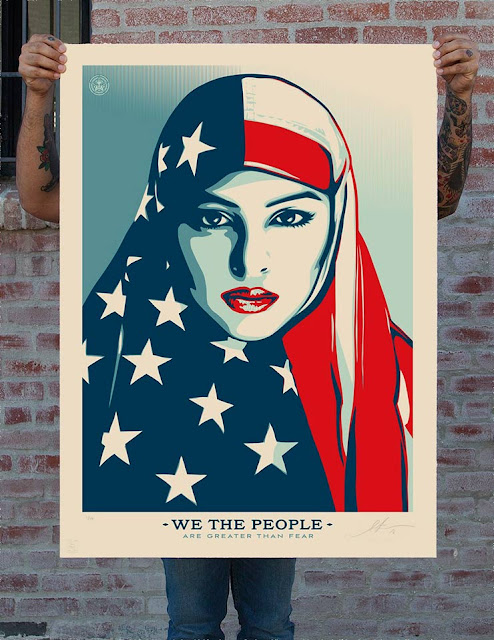 Shepard Fairey. We The People. photograph by Arlene Mejorado