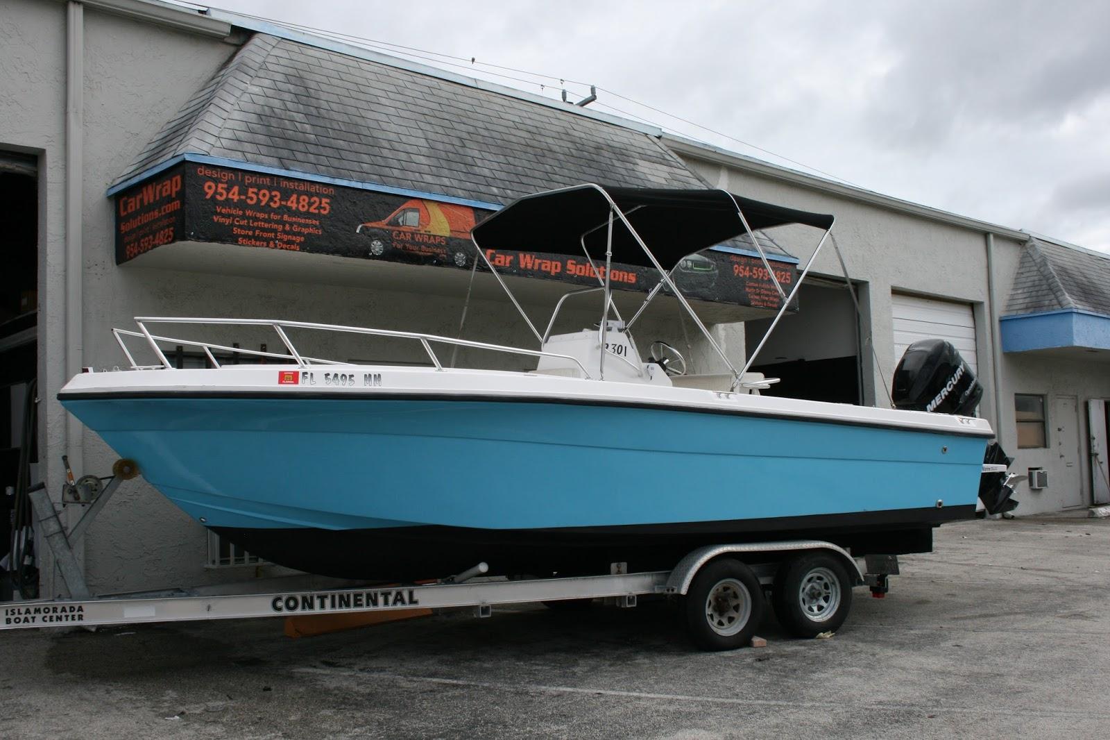 Color Change Boat Vinyl Wraps Davie Florida Car Wrap