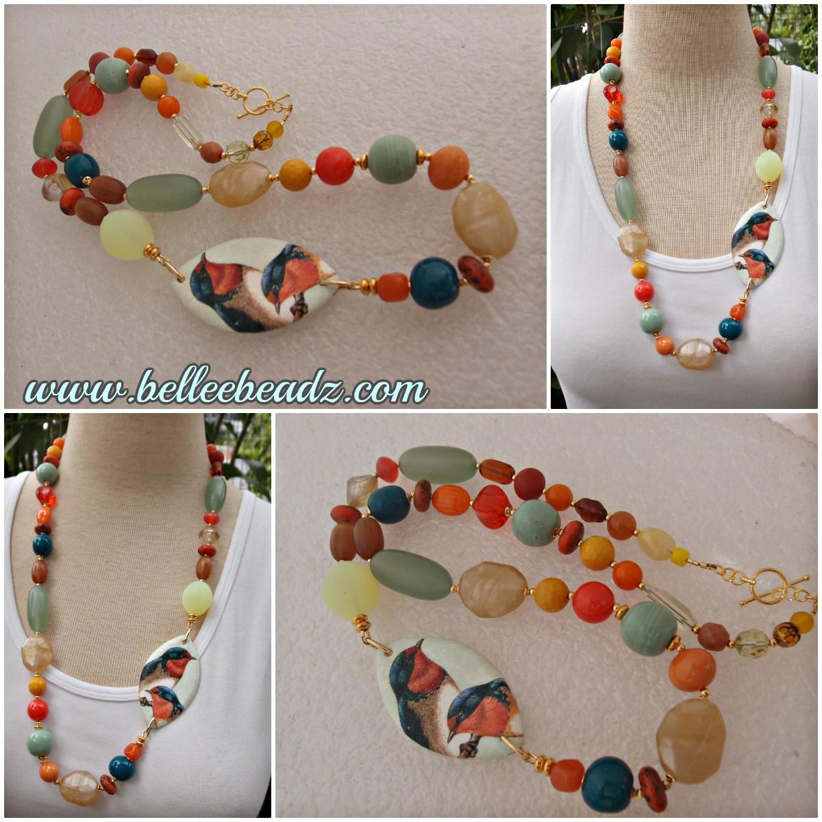 17 beads 12mm Indigo Rustic Glass Pearl Bead approx
