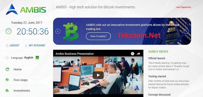 [SCAM] Review Ambis : Lãi 0.15% - 0.2% hằng giờ [3.6% - 4.8% hằng ngày] - Đầu tư tối thiểu 0.01 BTC - Thanh toán tức thì