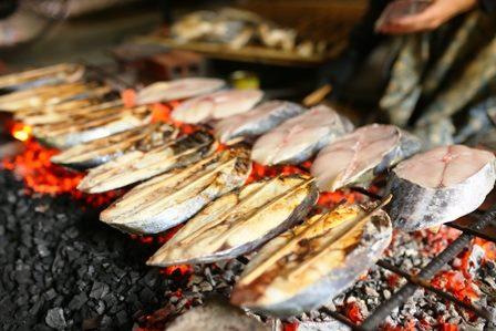 Cá Thu nướng một đặc sản của biển Cửa Lò