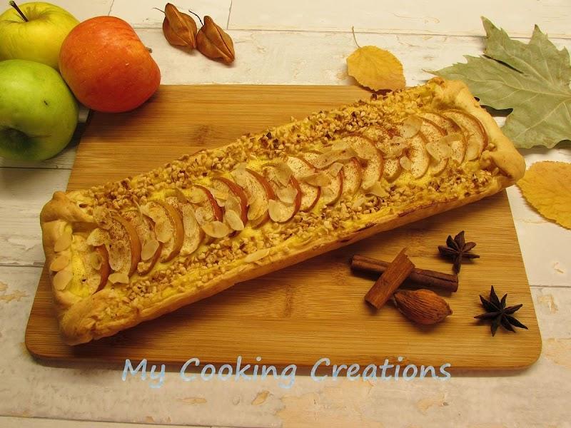 Ябълков пай с крем и канела * Crostata di mele e crema pasticcera