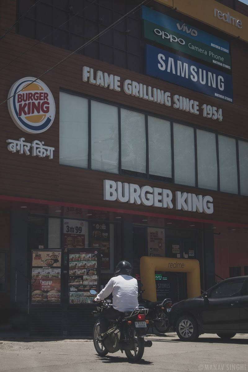 Burger King – Flame Grilling Since 1954. - Took this Street Photography Shot on 21-May-2020 at Vaishali Nagar, Jaipur.
