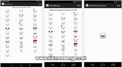 Descarga emoticones gratis en Kik Moticons