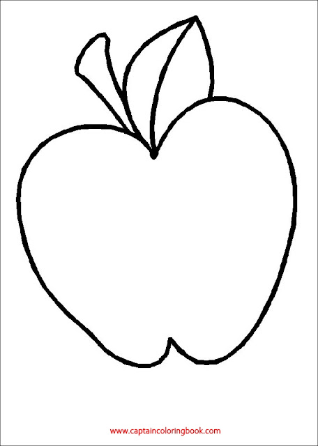 Coloring pages of Fruit apple