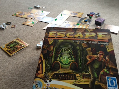 Escape The Curse of the Temple board game in play