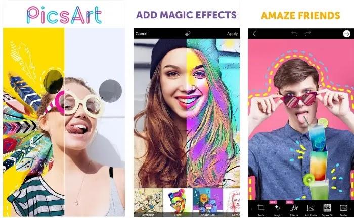Aplikasi Edit Foto Terbaik - PicsArt