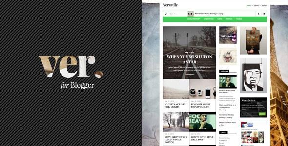 Versatile Magazine Blogger Template Free