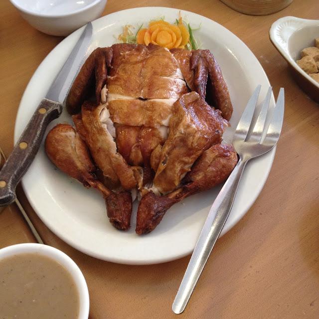 Fried whole chicken at Chix Savour Restaurant