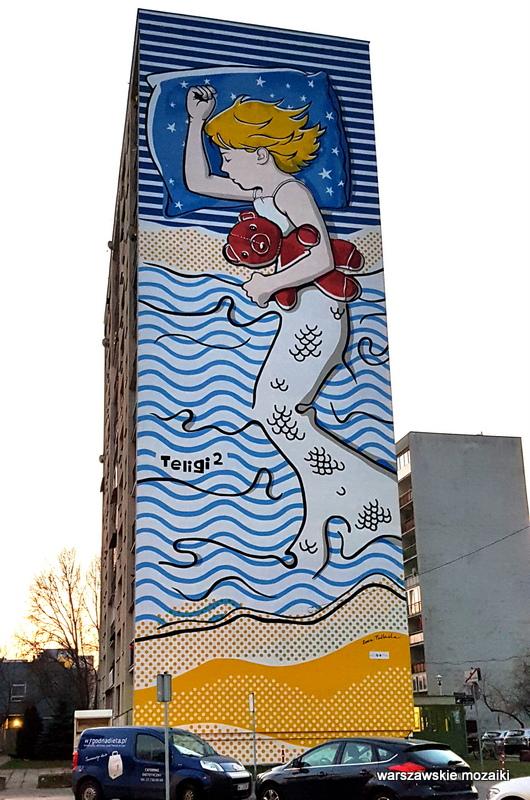 Teligi Warszawa Warsaw budżet partycypacyjny murale ursynowskie streetart muralart  warszawskie murale graffiti  syrenka