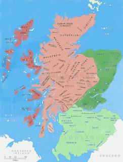 mapa de clanes de escocia