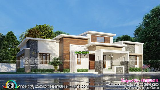 Single floor contemporary home view 1