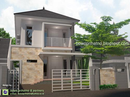 bowo prihatno  partners Desain Rumah Modern di Lahan