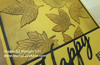 Fall Cards made with Stampin'UP!'s Gathered Leaves Dies and distressed by inking the embossing die