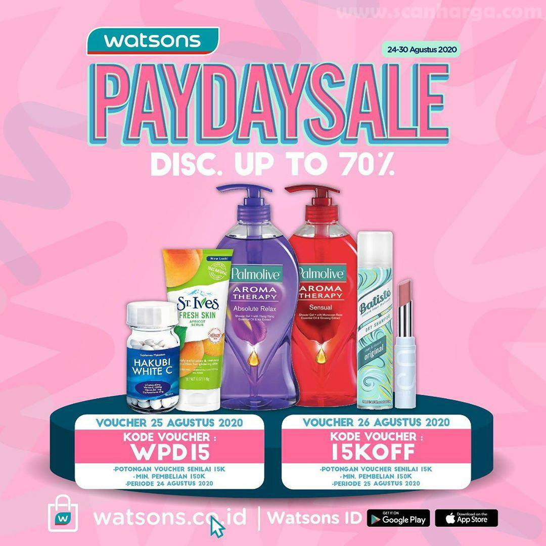 Watsons Promo Payday Sale Disc Up To 70%