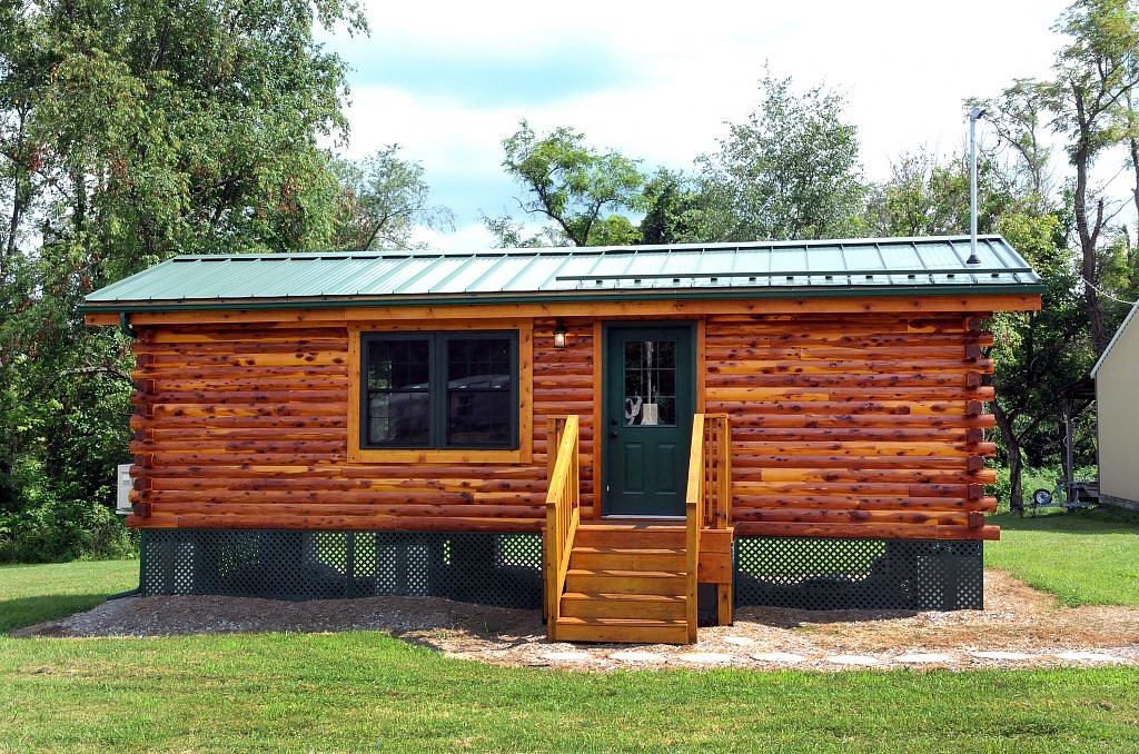 Tiny House Town Cambridge Log Cabin 360 Sq Ft