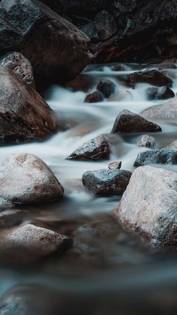 Free wallpaper Water, Stones, Flow, Nature