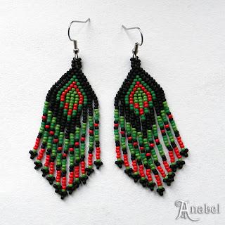 купить серьги из бисера интернет магазин украшения ручной работы в этно стиле