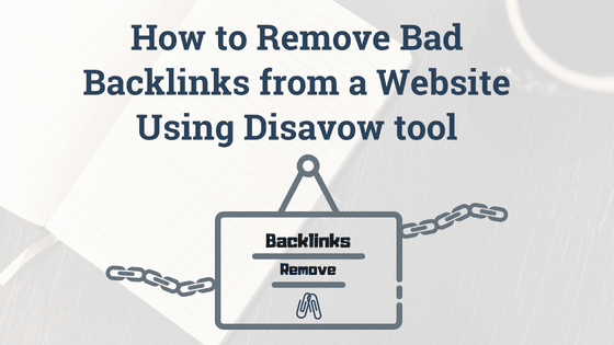 remove website bad backlinks