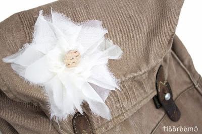 Ohje: Ompele ruusuke laukkuun