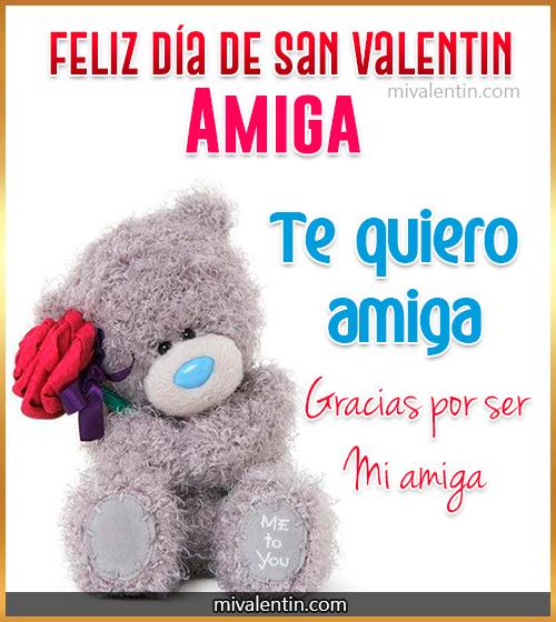 Feliz día de San Valentín Amiga