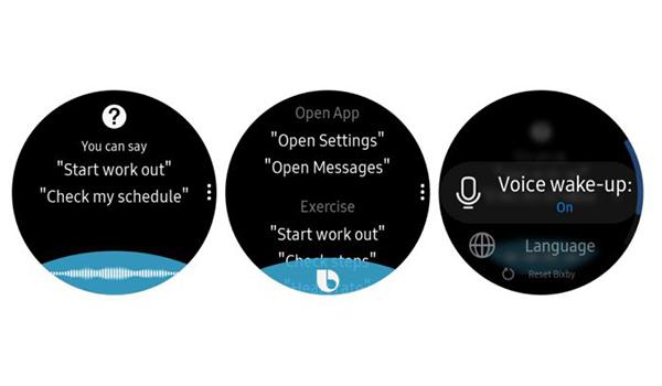 المساعد الصوتي الخاص بساعات سامسونج على النظام التشغيلي تايزن