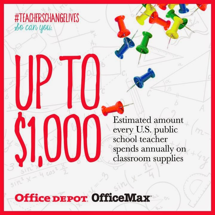 #TeachersChangeLives Office Depot OfficeMax Adopt-A-Classroom