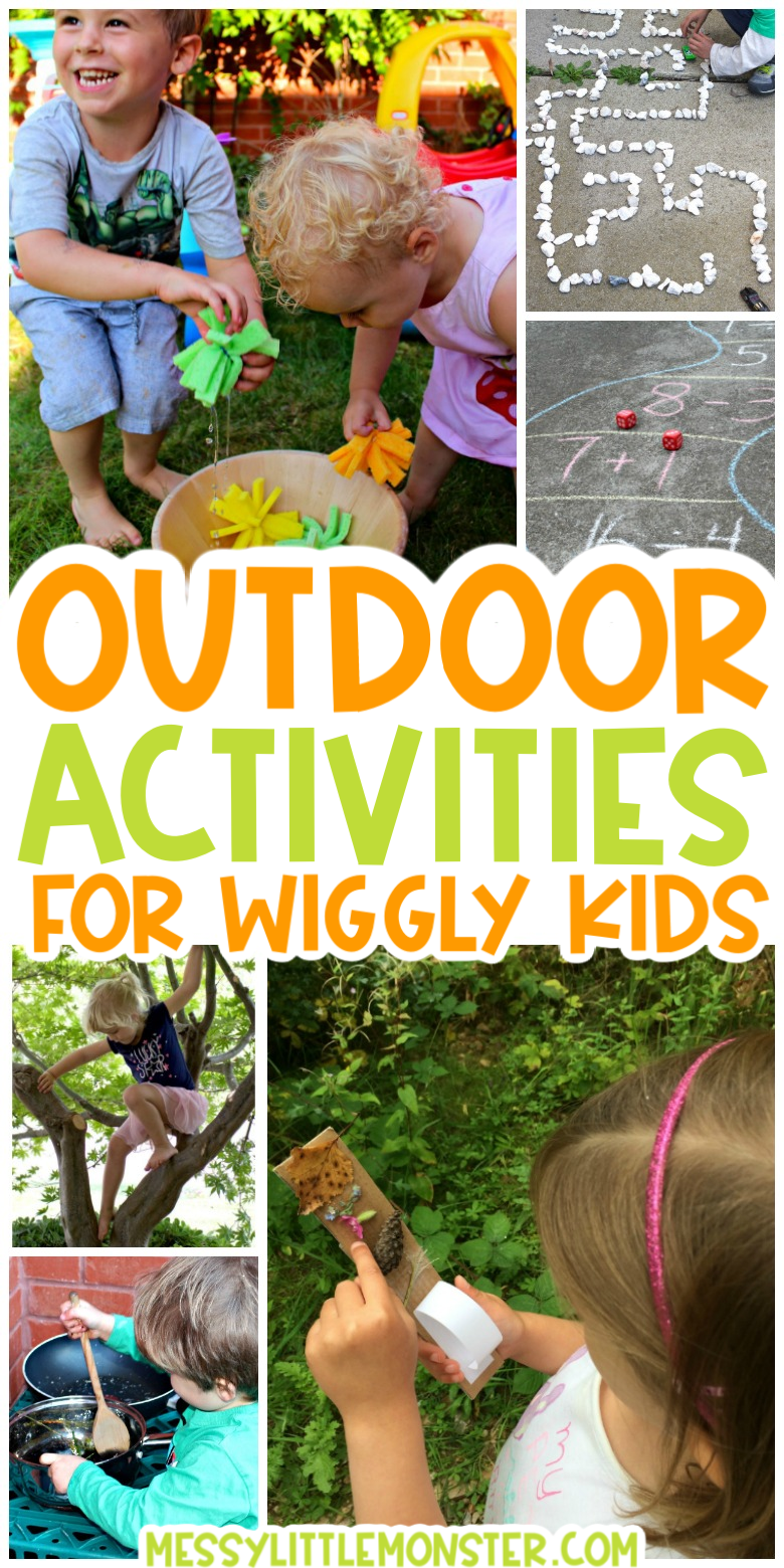 fun outdoor activities for kids to get them moving! Easy backyard outdoor activity ideas.