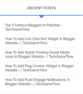 10 Most Popular Recent Post Widget For Blogger
