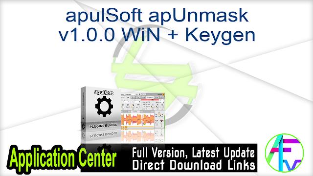apulSoft apUnmask v1.0.0 WiN + Keygen