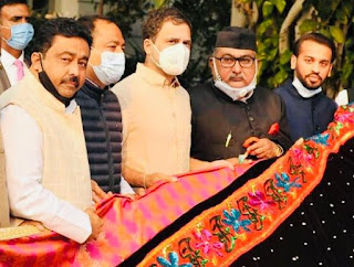 राहुल गांधी ने भेंट की अजमेर शरीफ की चादर | #NayaSaberaNetwork