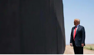 """The US President Donald Trump visited San Luis, Arizona on Tuesday and said """"stopped COVID, it stopped everything. """" He visited the US-Mexico border and tried to credit his new wall with stopping both illegal immigration and the coronavirus."""