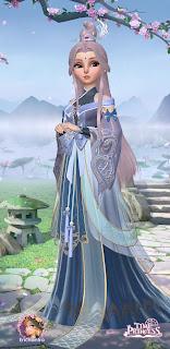 Suzhen's flowing blue immortal dress