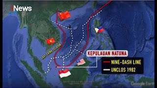 Klaim Perairan Natuna, Media Komunis Beijing Kini Tuding Indonesia Main Trik di Laut China Selatan