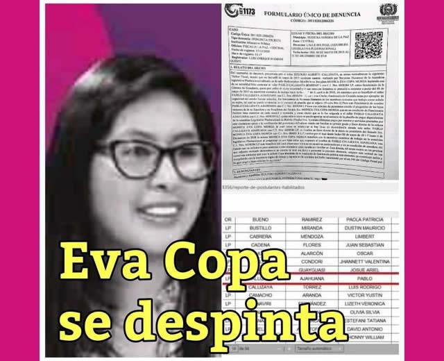 Eva Copa se despinta en El Alto por designaciones de autoridades