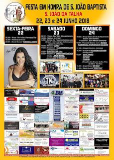 Programa Festas de São João Batista 2018 em São João da Talha