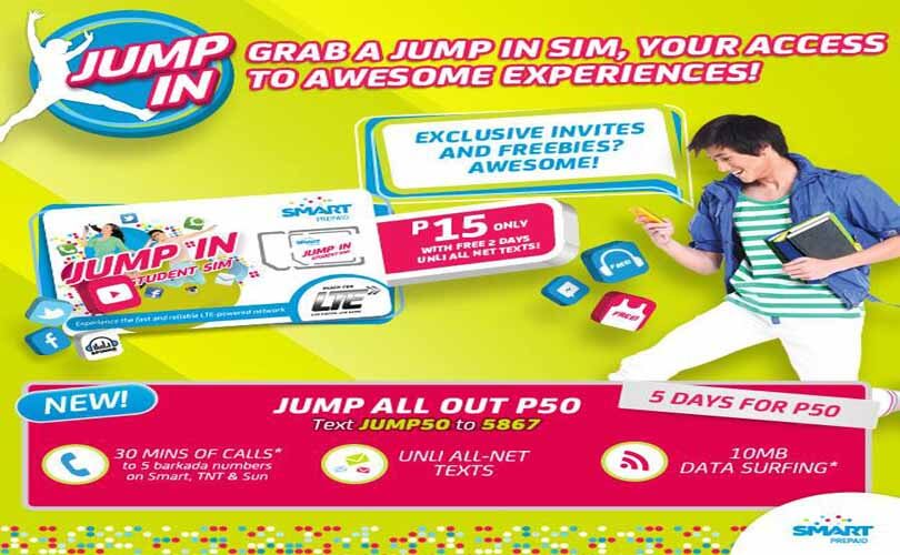 Smart Baon Load Jump50 - 5 Days Free FB and Unli Text to All Networks