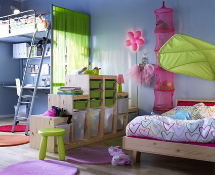 10 shared children's bedrooms with lots of color 1