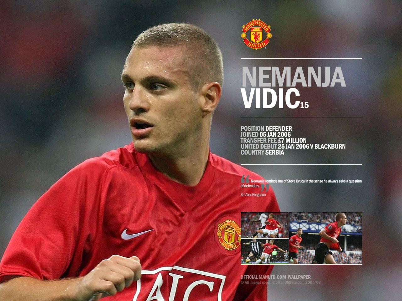 f soccer: Nemanja Vidic