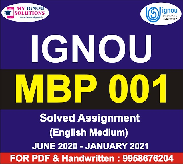 MBP 001 Solved Assignment 2020-21