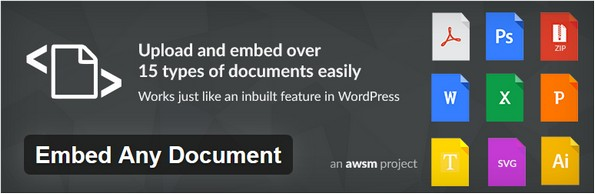Embed all embeddable documents like PDF files