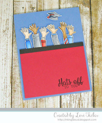 Hats Off card-designed by Lori Tecler/Inking Aloud-stamps from Avery Elle