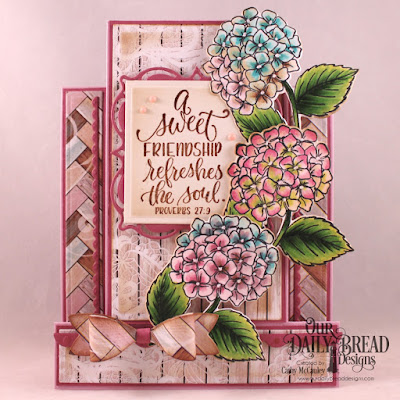 Our Daily Bread Designs Stamp/Die Duos: In My Heart, Paper Collection: Romantic Roses, Custom Dies: Center Step A2 Card, Center Step A2 Layers, Layered Lacey Squares, Bitty Borders, Small Bow