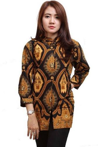 62+ Model Baju Batik Atasan Wanita Terbaru Simple Tapi Modis