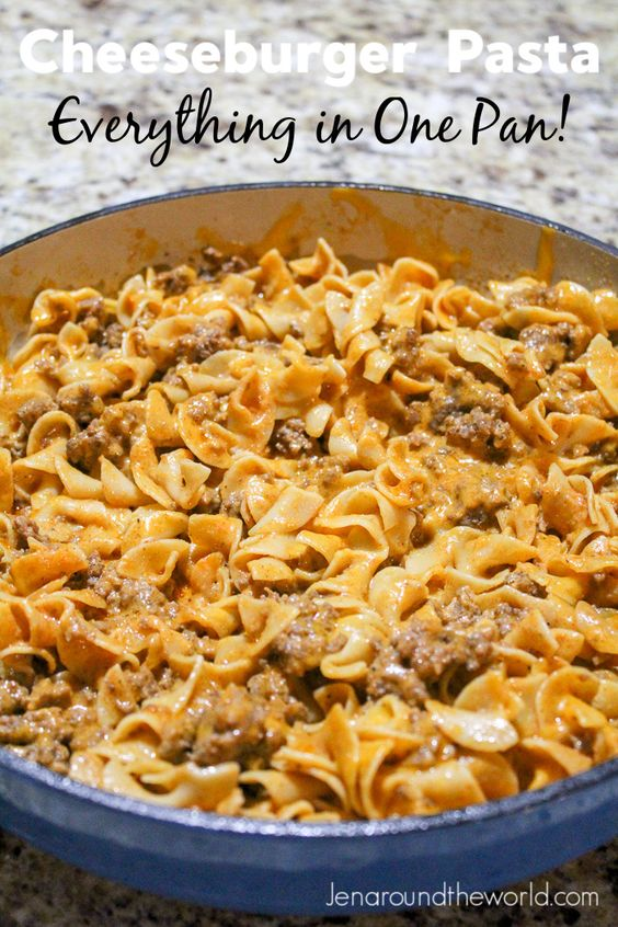 ONE PAN CHEESEBURGER PASTA #recipes #dinner ideas #dinnerideasfortonight #food #foodporn #healthy #yummy #instafood #foodie #delicious #dinner #breakfast #dessert #lunch #vegan #cake #eatclean #homemade #diet #healthyfood #cleaneating #foodstagram