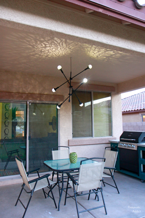 pneumatic addict  how to make a solar mobile chandelier, Lighting ideas
