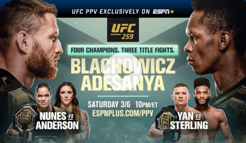 Blachowicz vs Adesanya Full Fight En Vivo
