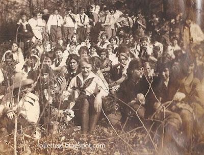Students of Harrisonburg Teachers College 1924 Massanutten Hike https://jollettetc.blogspot.com