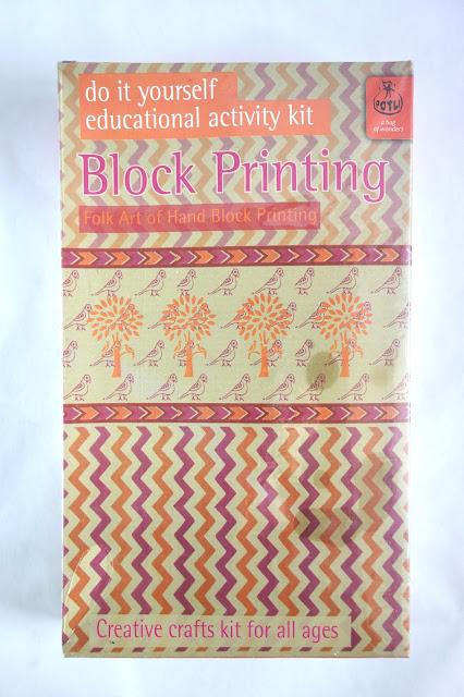 block printing basics, Indian block printing, block printing kit, blah to TADA, crafts, handmade, wood block printing, Potli a bag of wonders