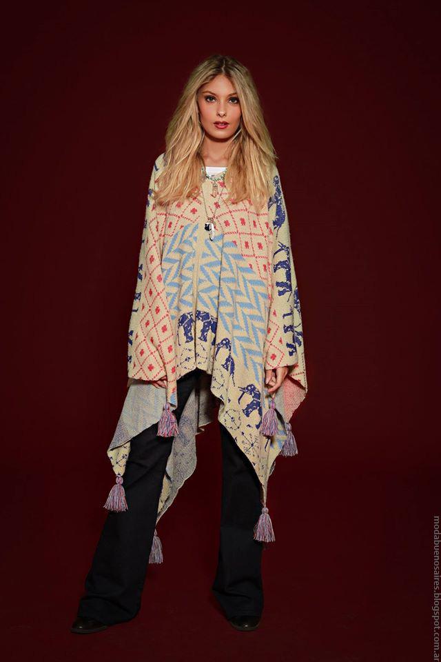 Ponchos invierno 2016 ropa de moda 2016 Sophya.